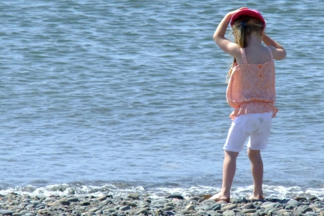Little Girl Paddling Allonby