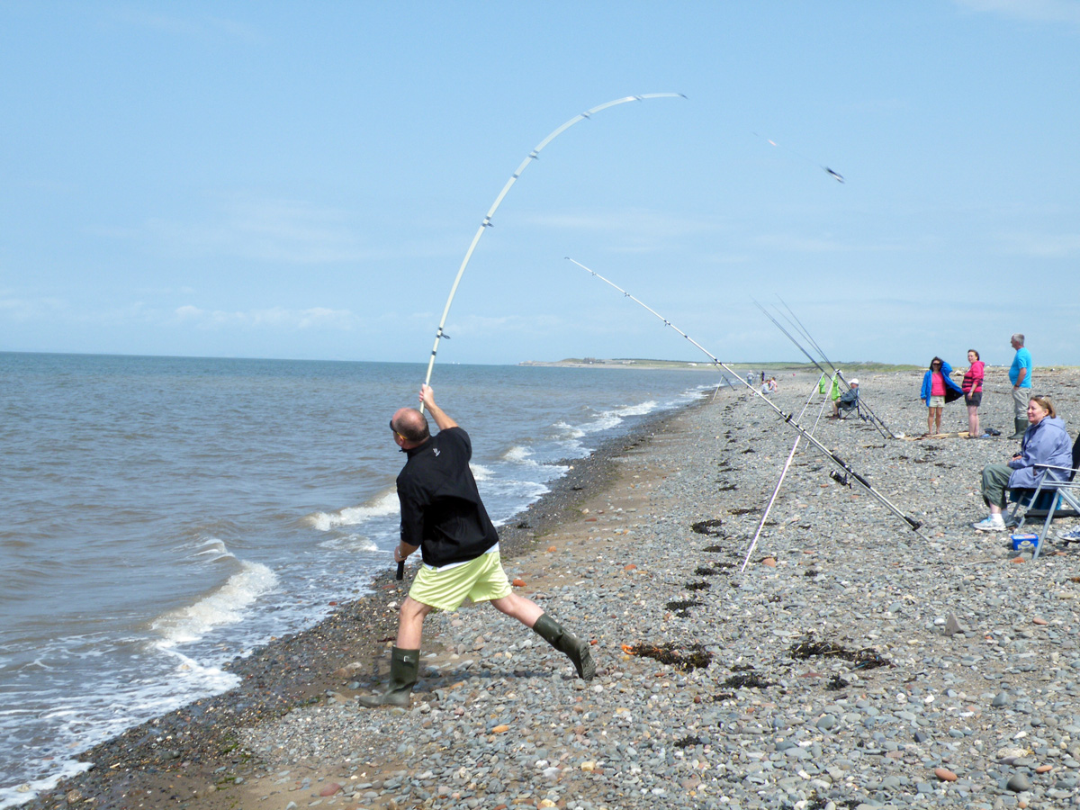 Beach Fishing at Allonby